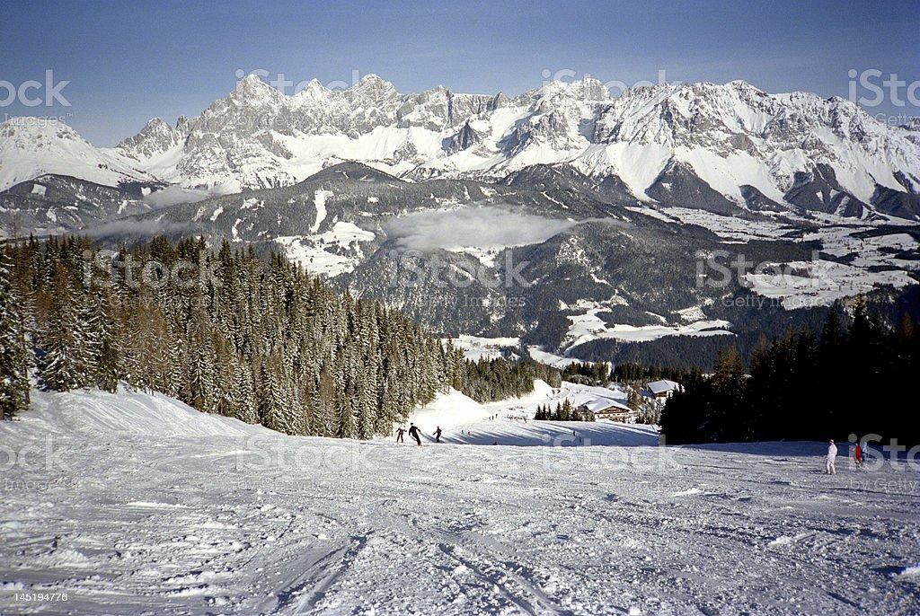Schladming Ski Slopes-Austria stock photo