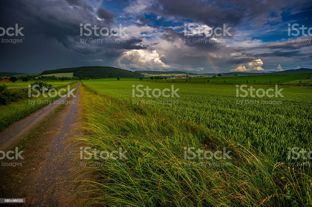 Schlechtwetterfront stock photo