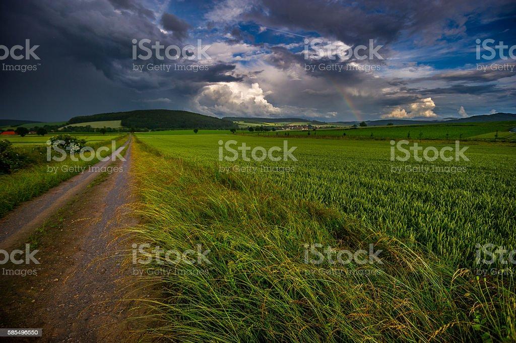 Schlechtwetterfront stock photo