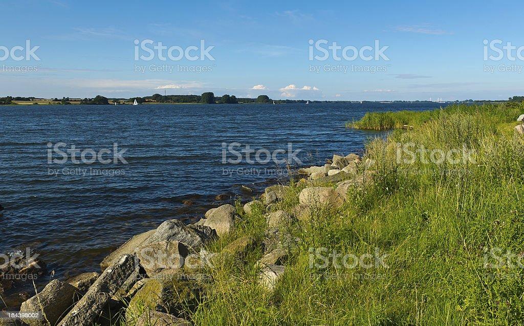 Schlei Panorama with shoreline stock photo