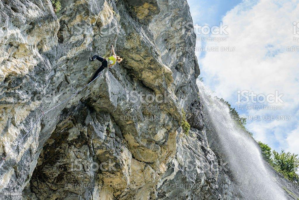 Schleierfall, Climbing stock photo