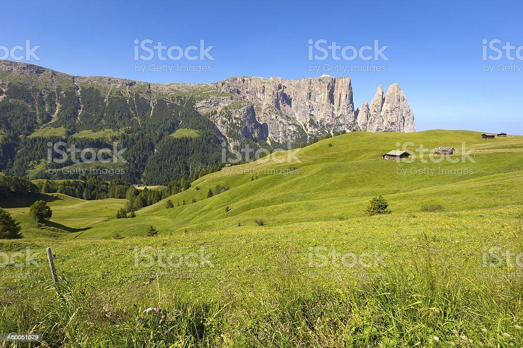 Schlern Massif, Santner Spitze stock photo