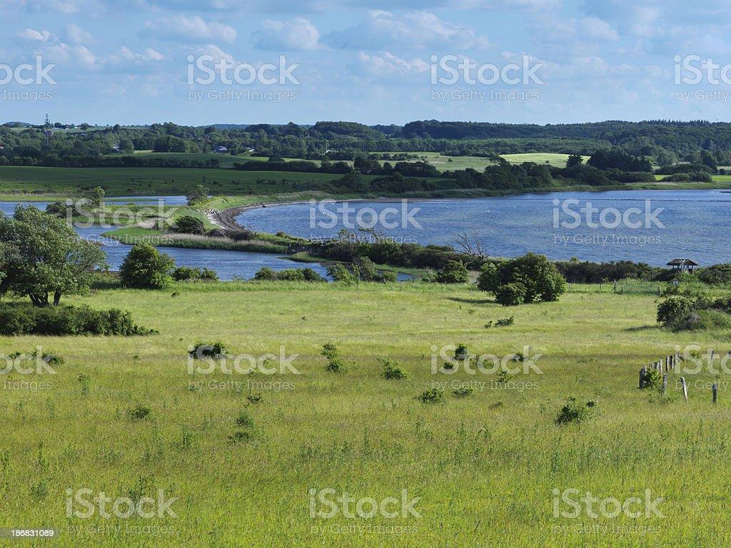 schleswig holstein, coastal landscape stock photo