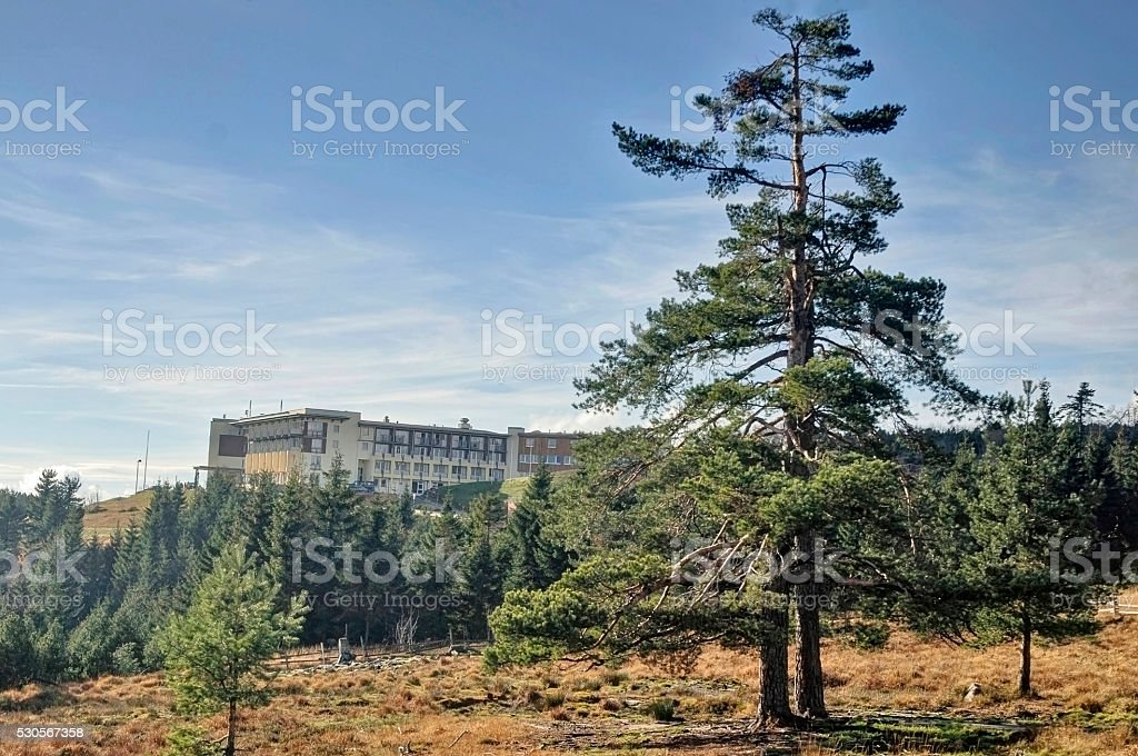 Schliffkopf Hotel in Black Forest National Park stock photo