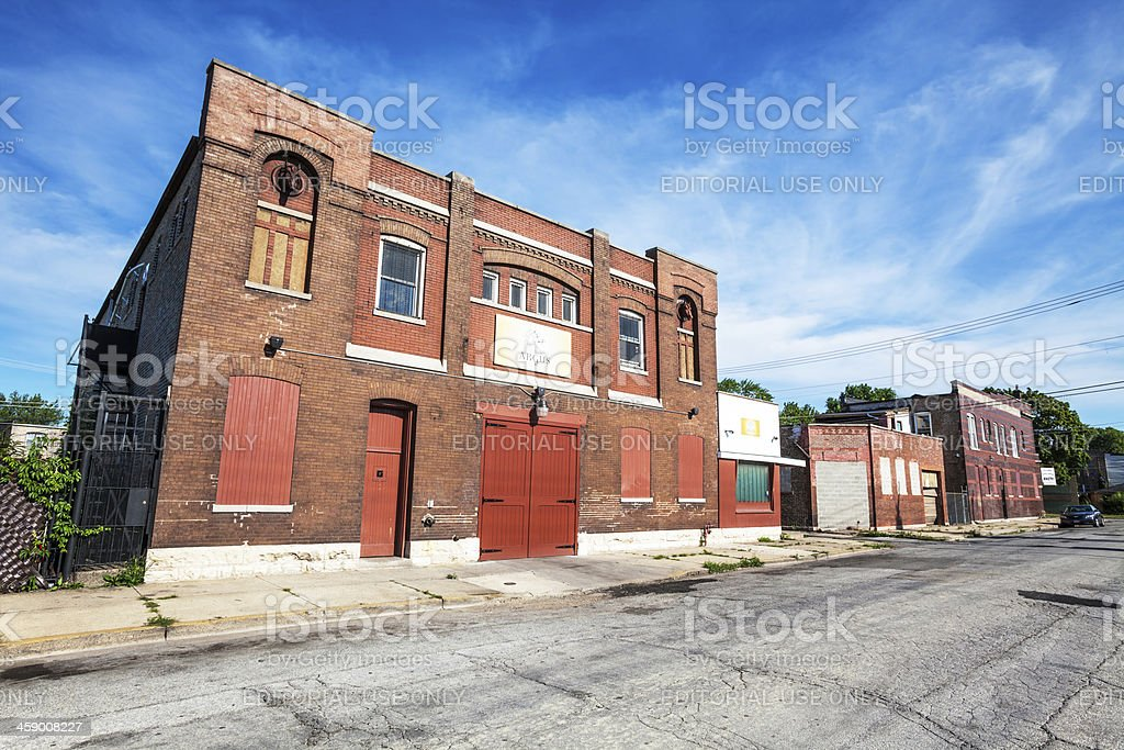 Schlitz Brewery Stable Building in Roseland, Chicago stock photo