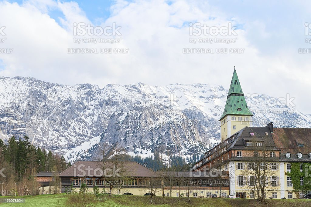 Schloss Elmau is among the Leading Hotels of the World stock photo