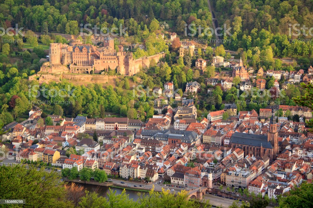 Schloss Heidelberg Castle and the old town stock photo