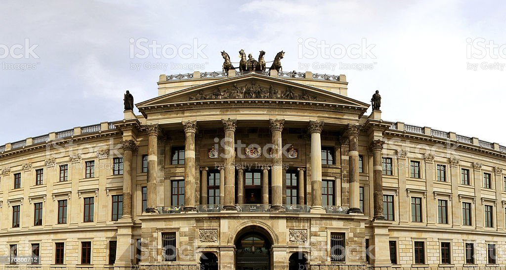 Schloss in Braunschweig stock photo