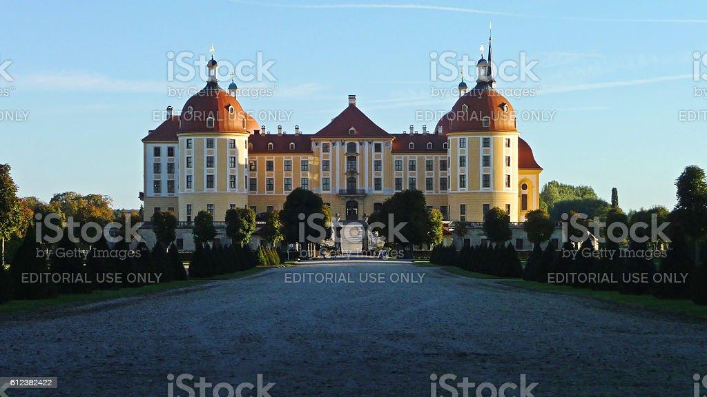 Schloss Moritzburg Baroque Castle stock photo