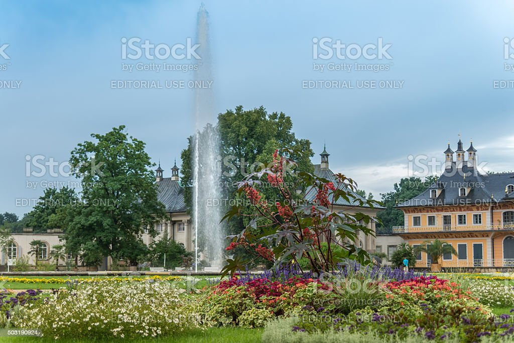 Schloss Pillnitz mit Park stock photo