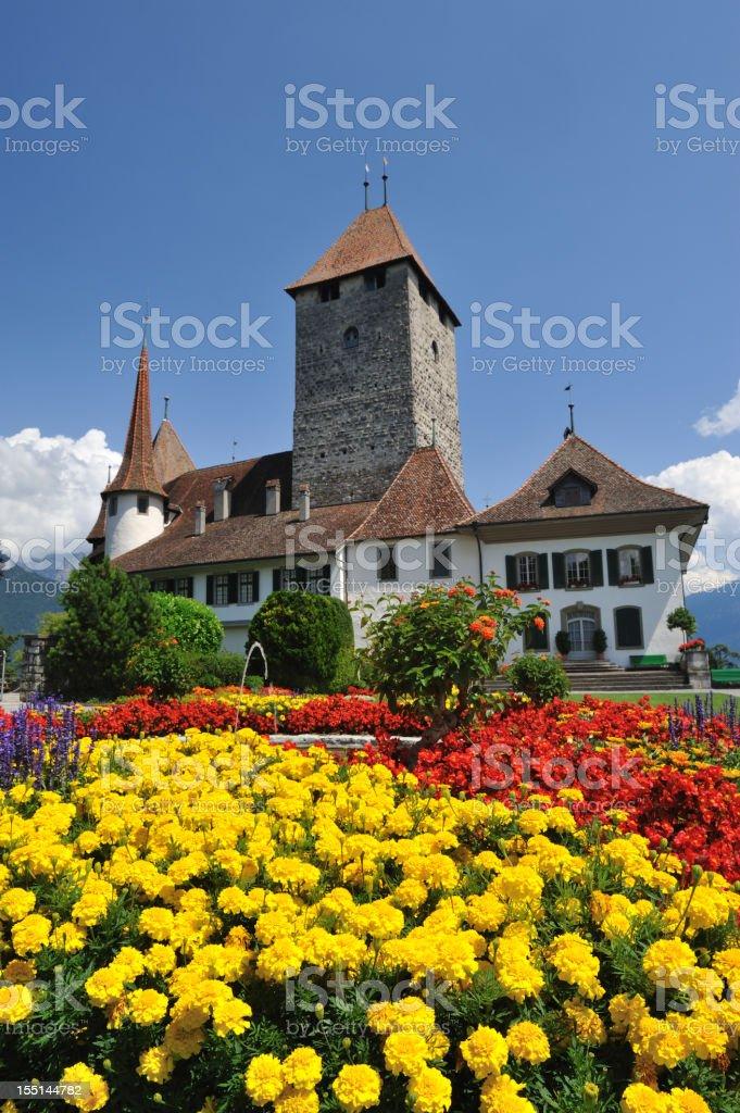 Schloss Spiez stock photo