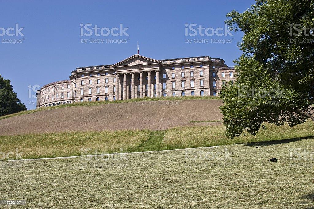 Schloss Wilhelmshoehe stock photo