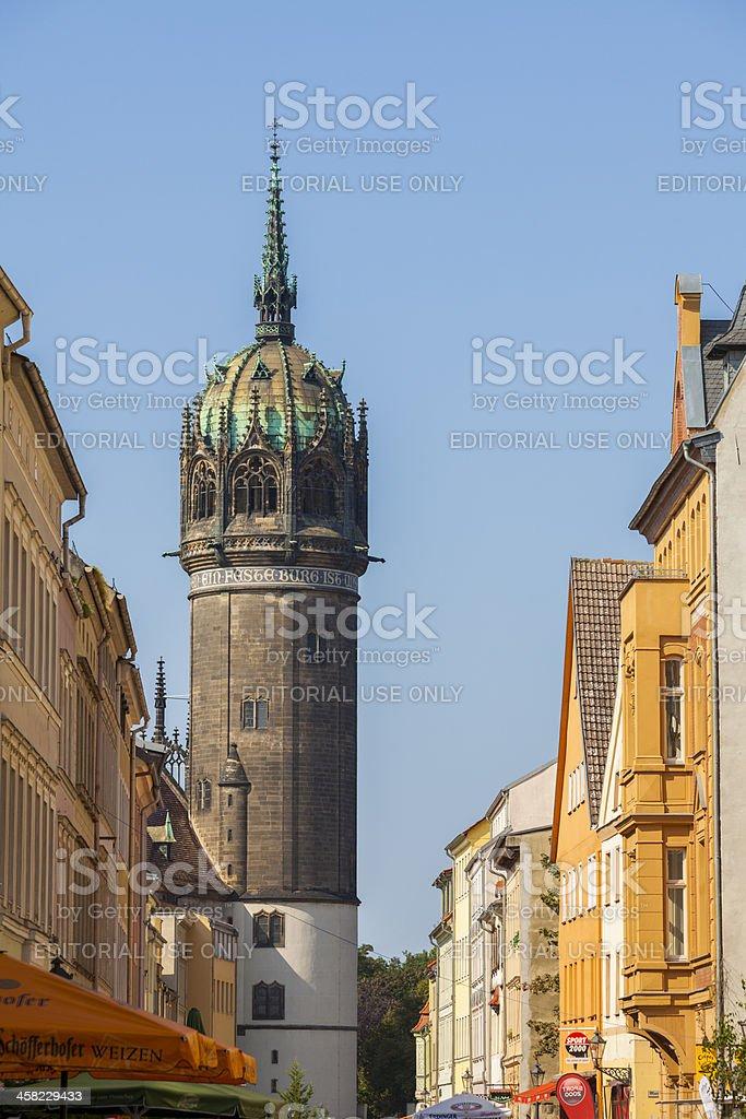 Schlosskirche Lutherstadt Wittenberg stock photo