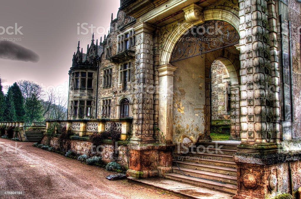 Schlossmauer stock photo