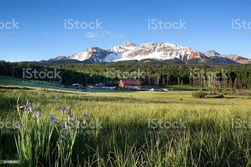 Schmid Ranch, Southwest Colorado stock photo