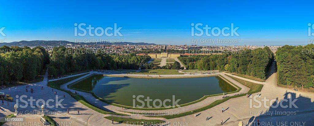Schönbrunn Palace & Gardens, Vienna stock photo