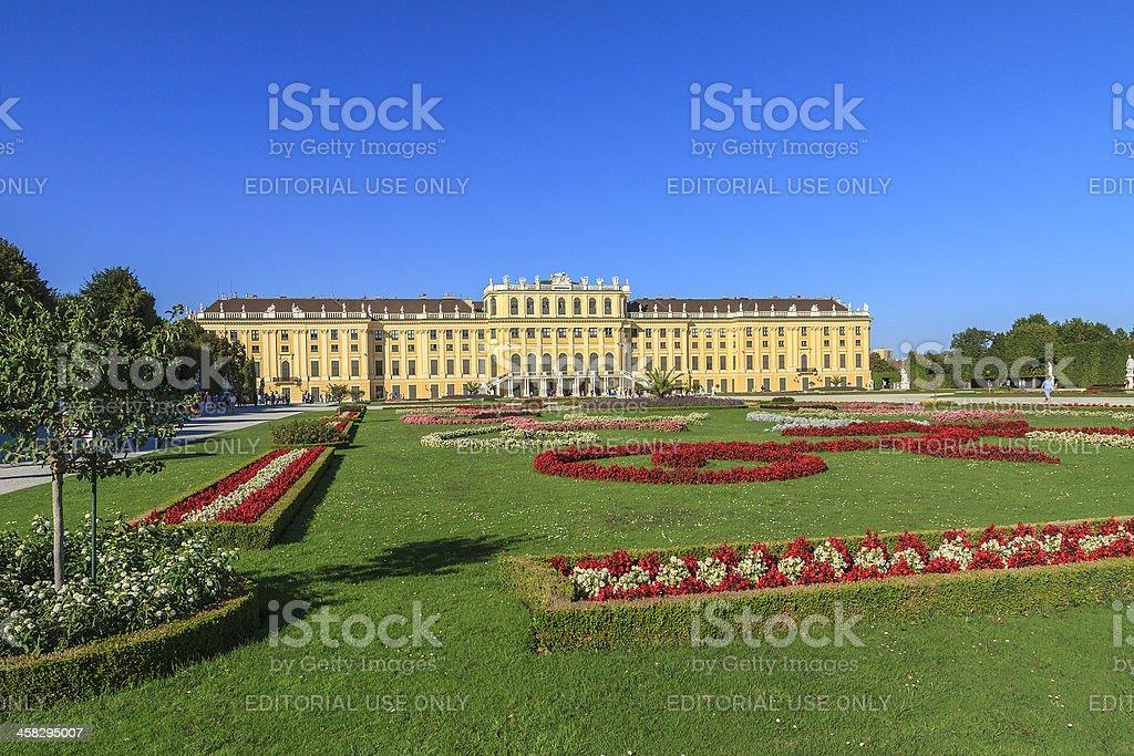 Schönbrunn Palace & Gardens, Vienna royalty-free stock photo