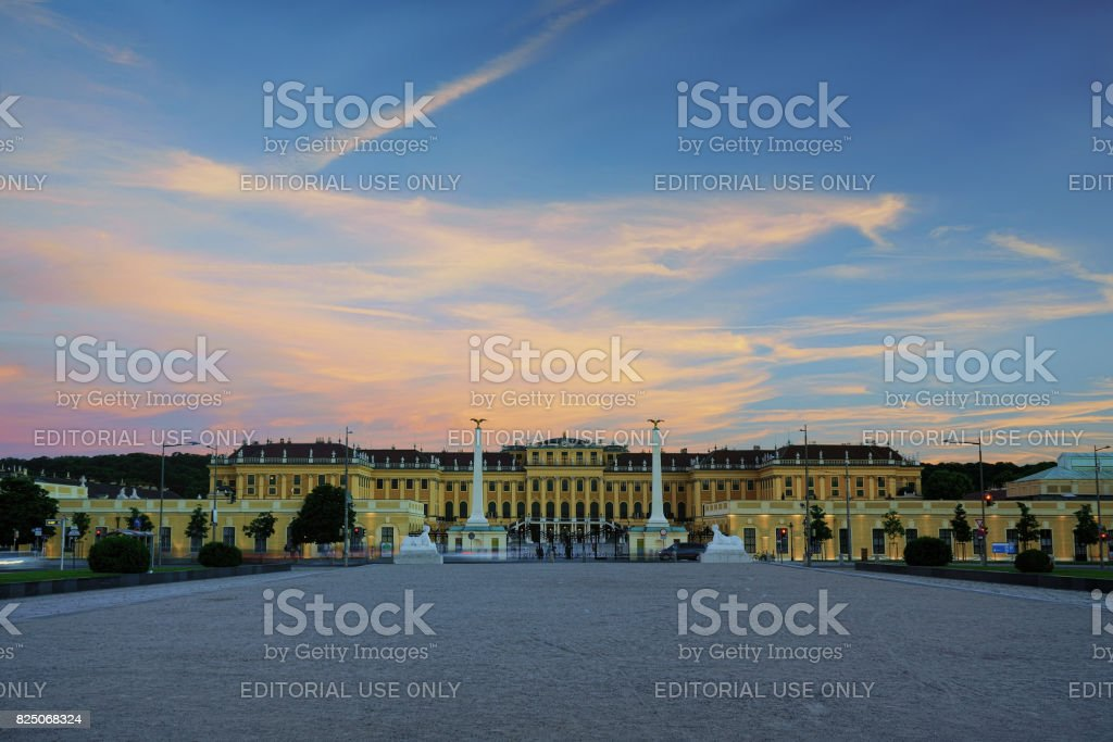 Schönbrunn palace stock photo