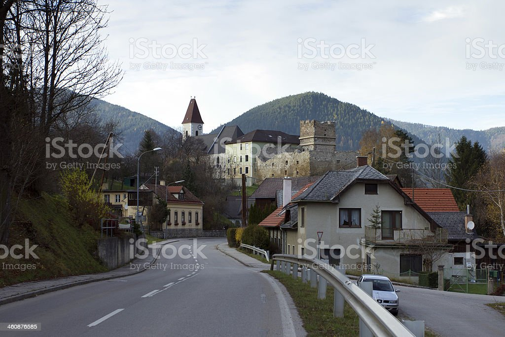 Schneeberg castle stock photo