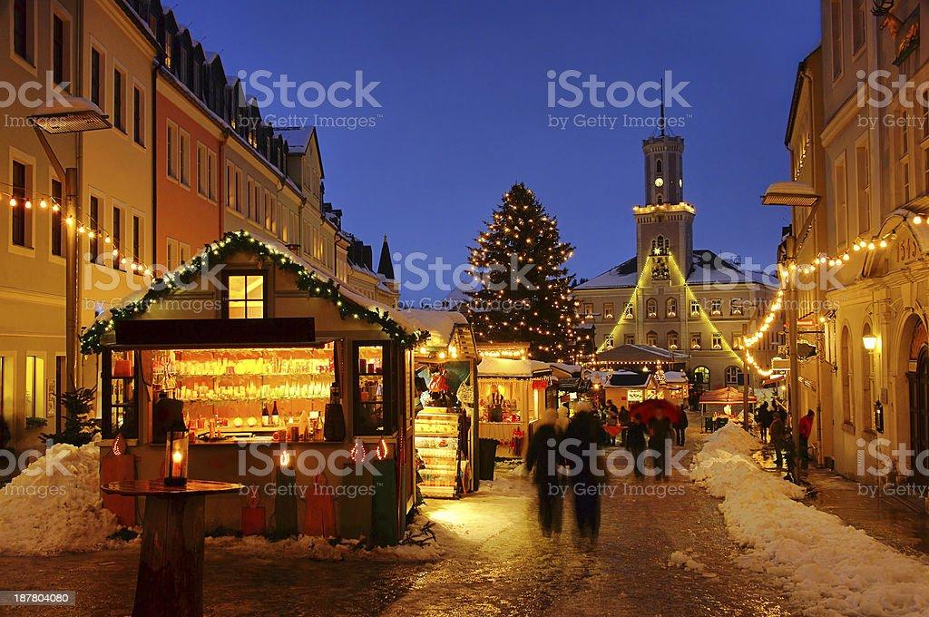 Schneeberg christmas market stock photo