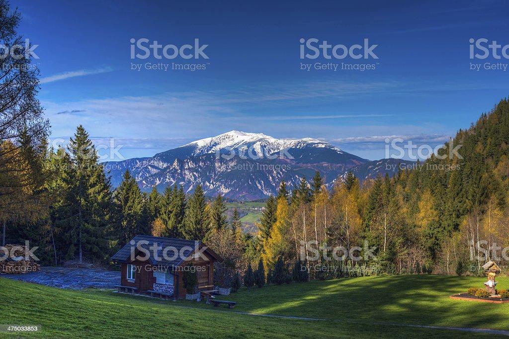Schneeberg ?sterreich stock photo