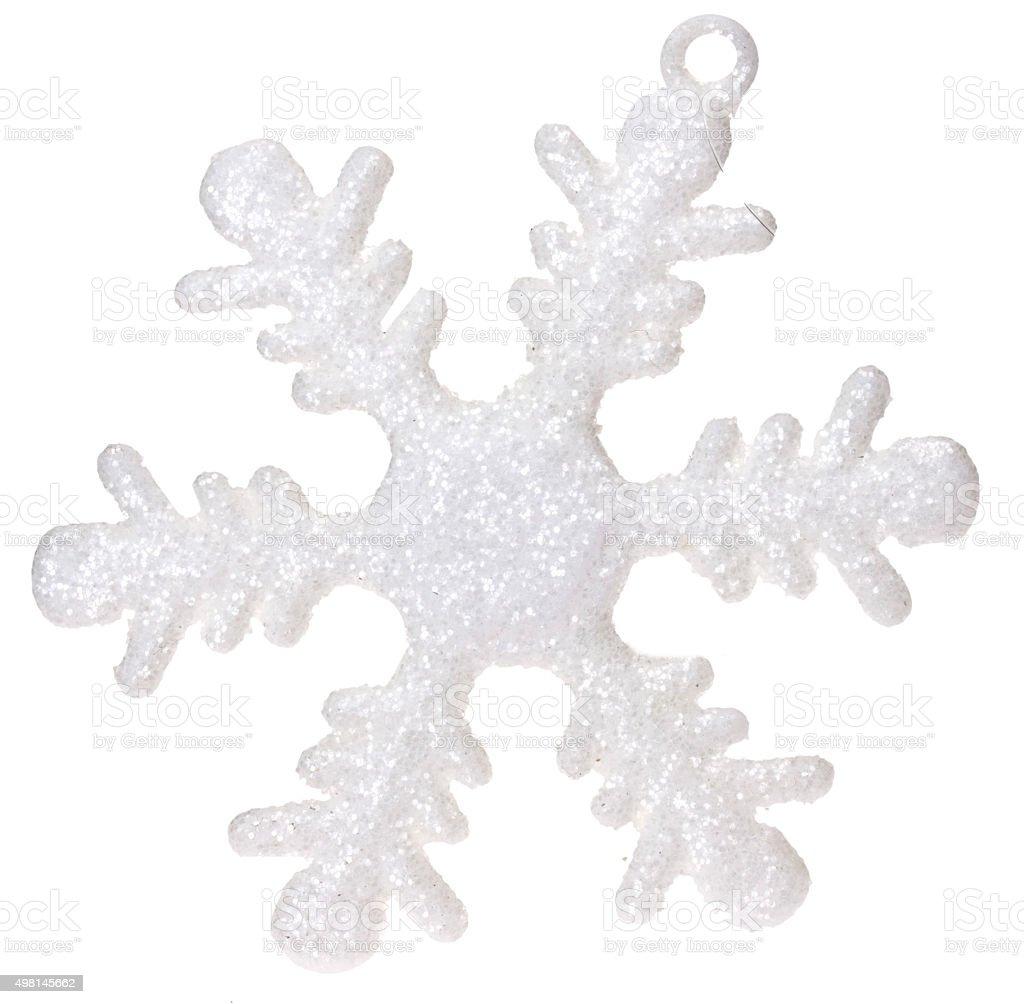 Schneeflocke als Baumschmuck stock photo