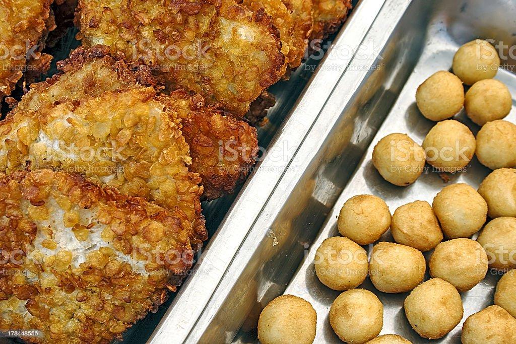 Schnitzel and potatoes royalty-free stock photo