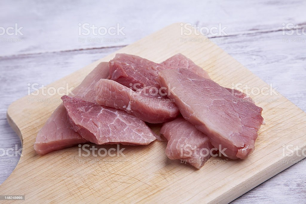 Schnitzel meat stock photo