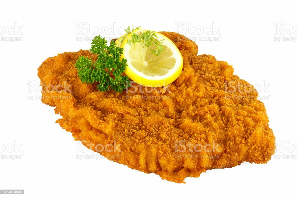 Schnitzel wiener art stock photo