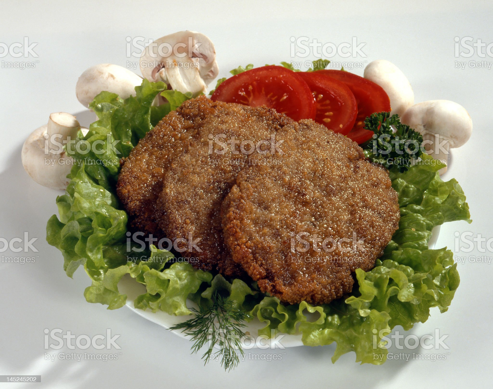Schnitzel with vegetables royalty-free stock photo