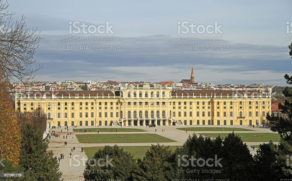 Schoenbrunn palace - former imperial summer residence stock photo