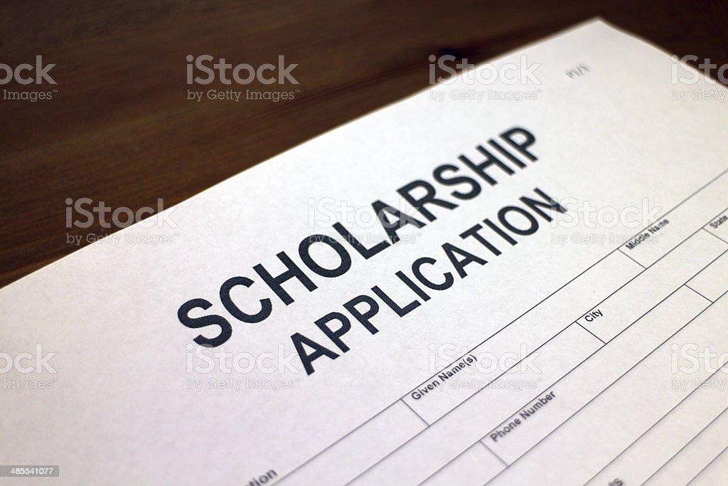 Scholarship Application Form stock photo