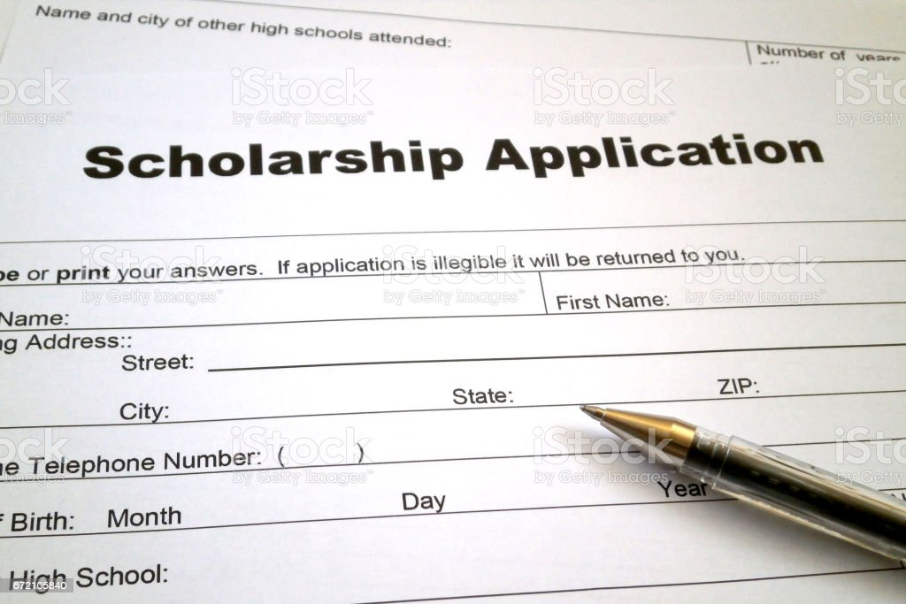 Scholarship Application Form Stock Photo   Istock