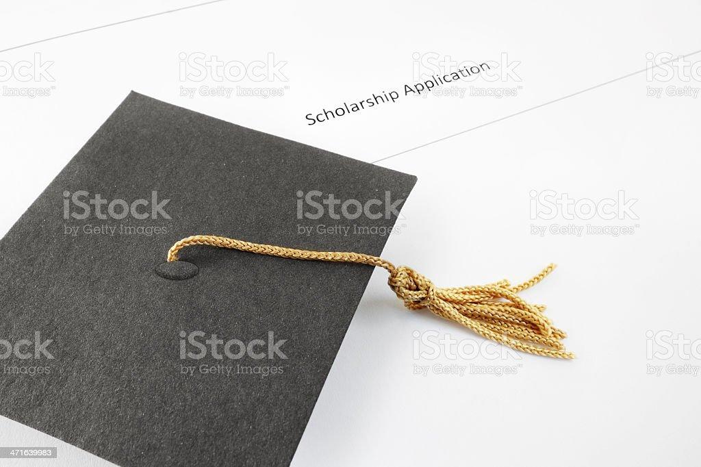 scholarship application royalty-free stock photo