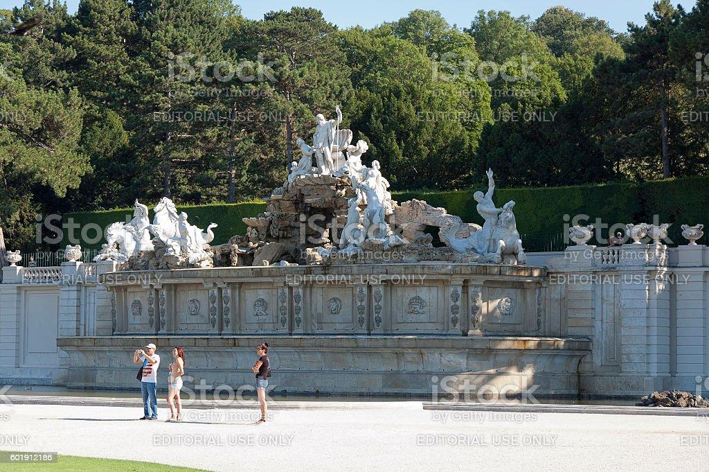 Schonbrunn Garden stock photo