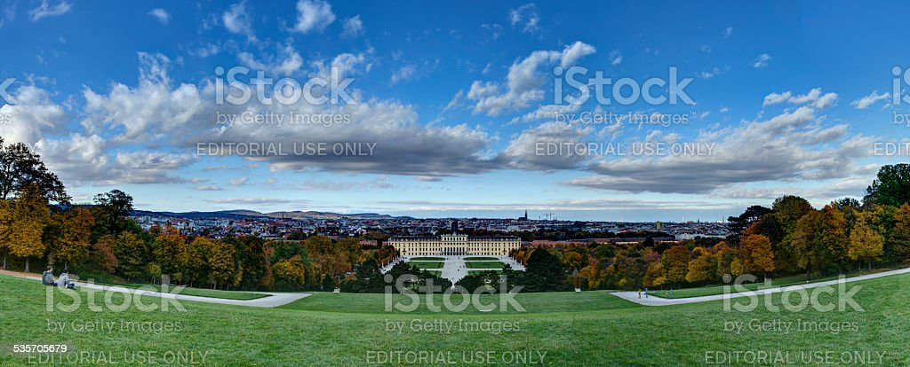 Schonbrunn Palace panaroma stock photo