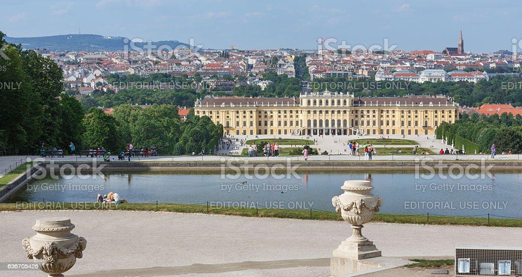 Schonbrunn palace ( Vienna, Austria) stock photo
