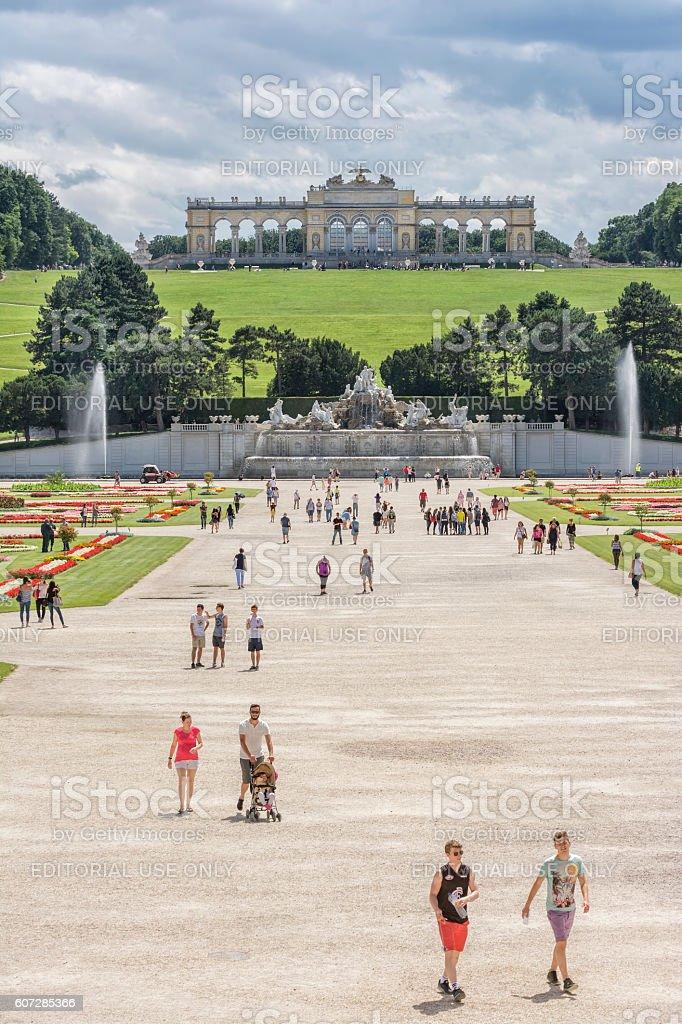 Schonbrunn Palace, Vienna, Austria stock photo