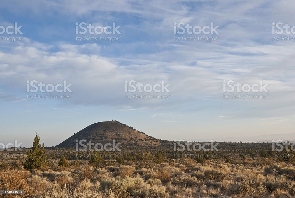 Schonchin Butte in the Early Morning royalty-free stock photo