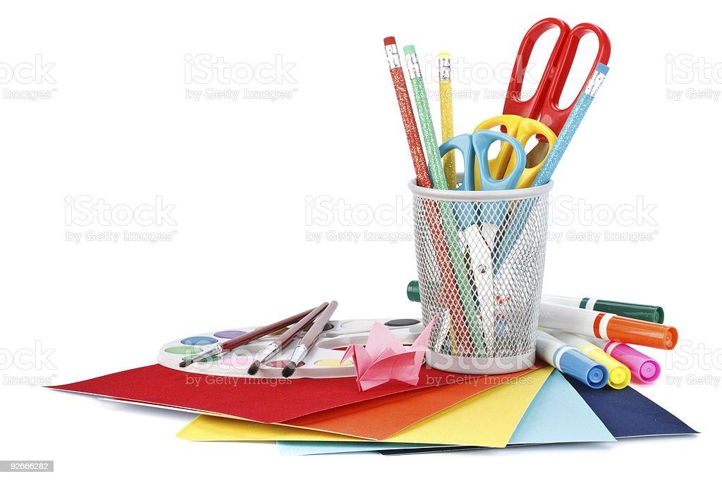 School accessories stock photo