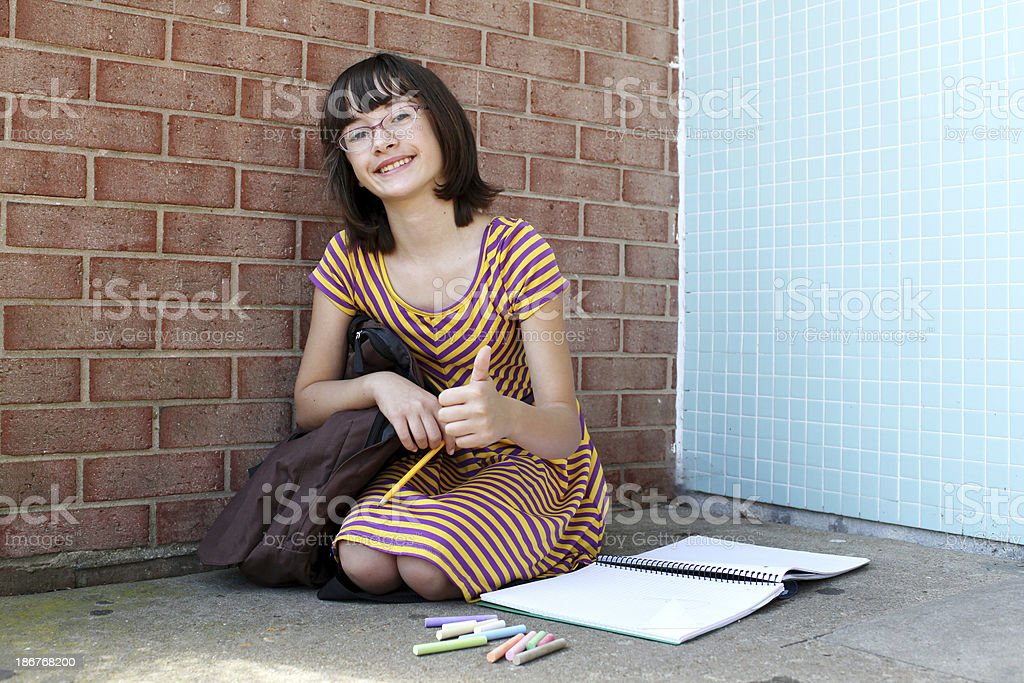 School Age Girl royalty-free stock photo