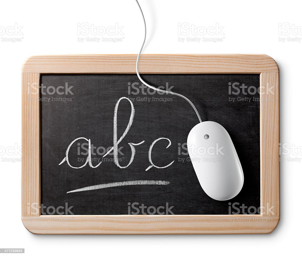 School and computer. royalty-free stock photo