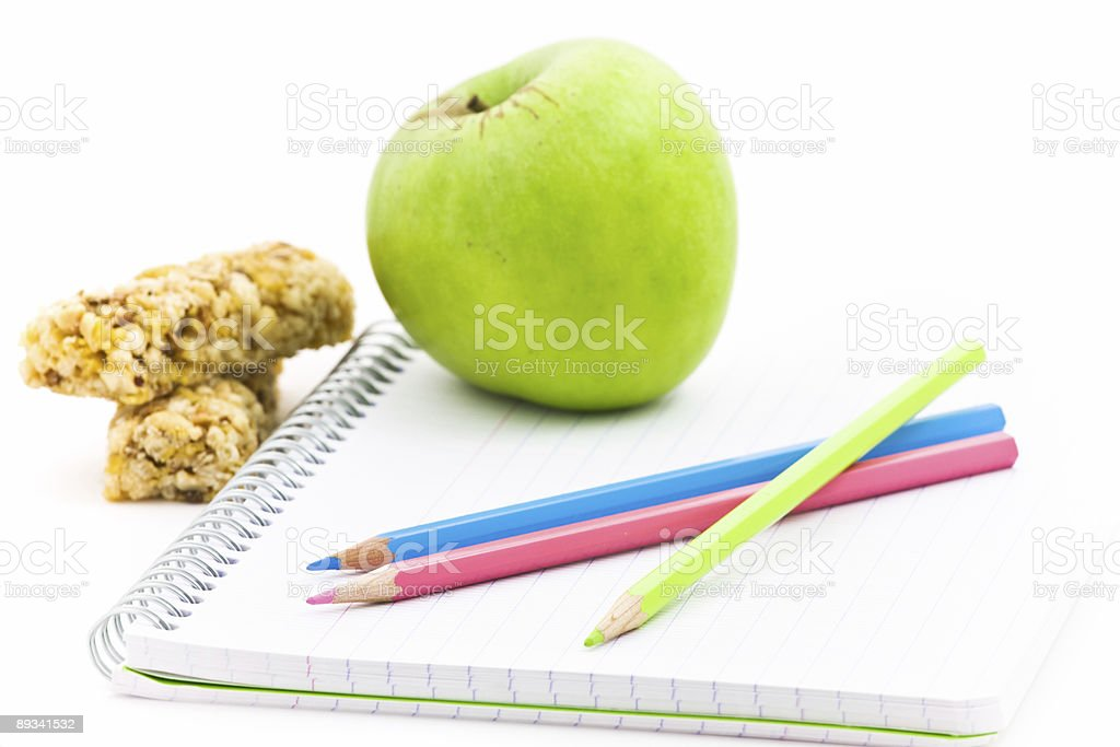 School and food royalty-free stock photo