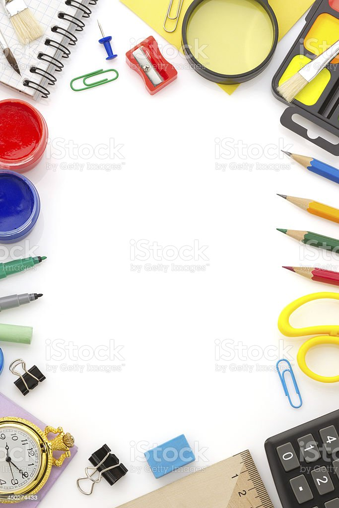 school and office supplies royalty-free stock photo