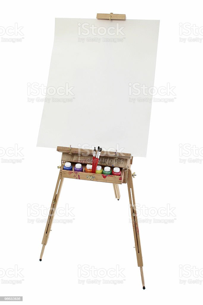 School Art Easel royalty-free stock photo