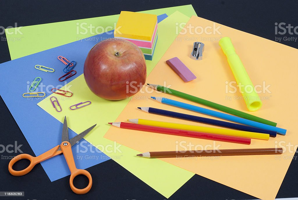School art project supplies royalty-free stock photo