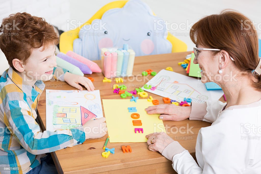 School at home can be fun stock photo
