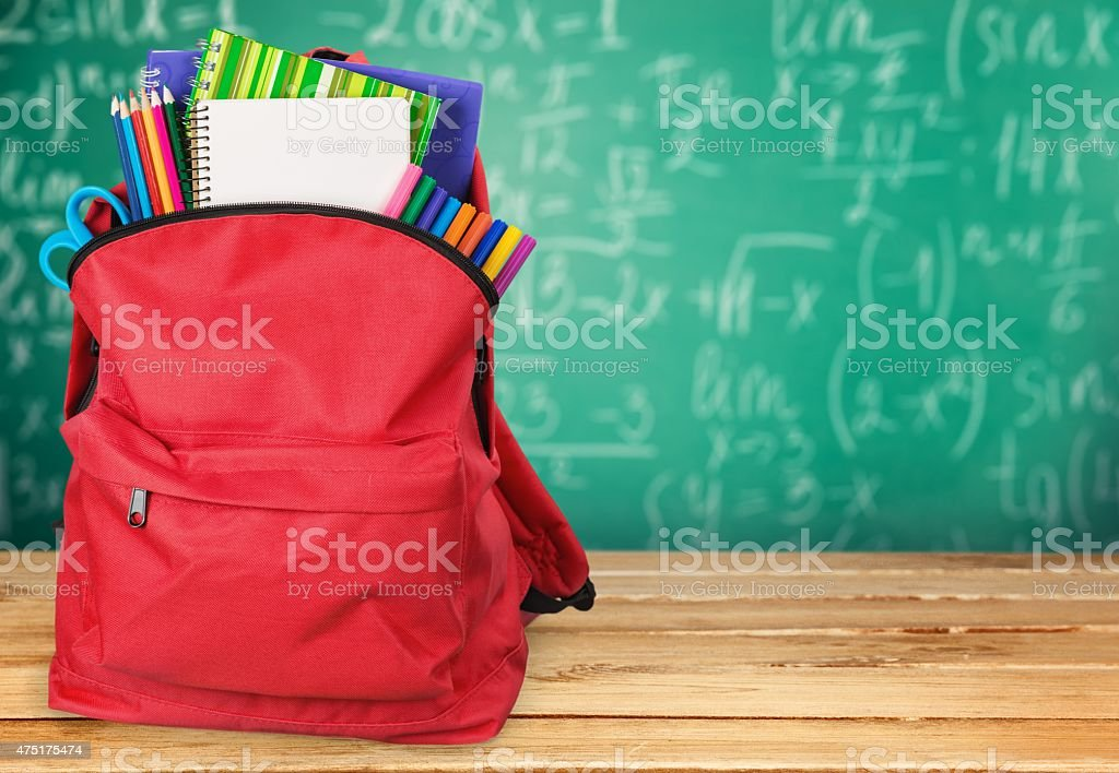School, back, bag stock photo