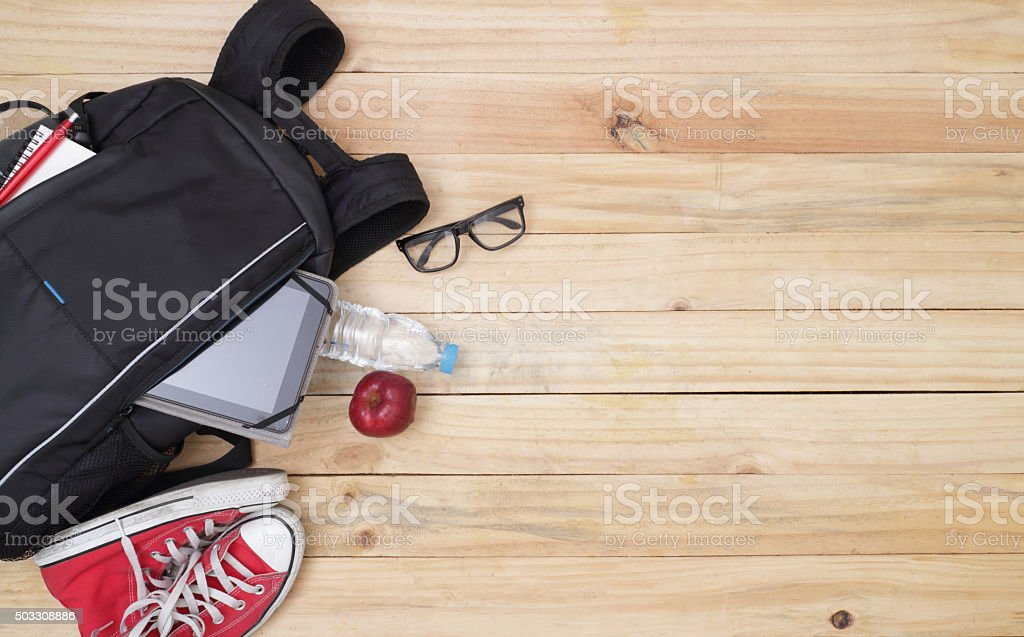School, bag, backpack. stock photo