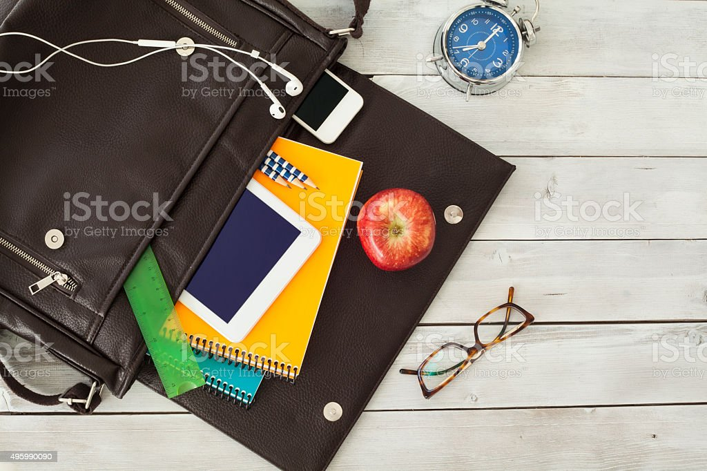 School bag stock photo
